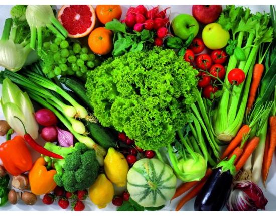 Полезные продукты: овощи, фрукты