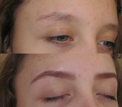 Девушка до и после окрашивания