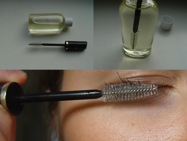 Расчесывание специальной щеточкой, чтобы росли брови