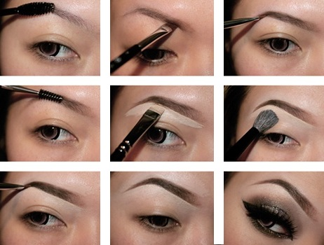 Полный макияж глаз поэтапно