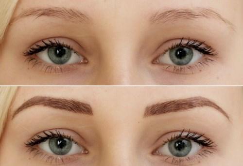 Поресничный татуаж бровей: фото до и после процедуры, техника Слои Эпидермиса