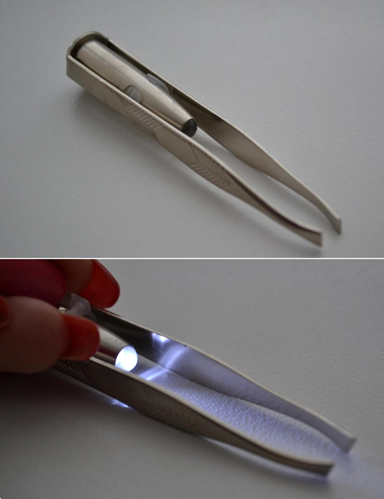 Пинцет для бровей: коррекция профессиональным пинцетом с подсветкой