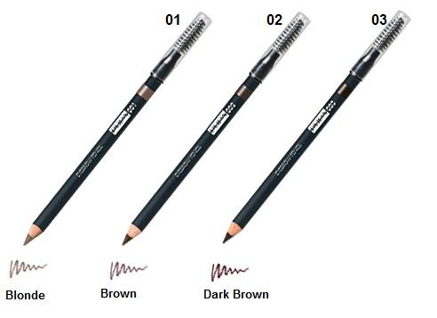 Разные оттенки карандашей для бровей
