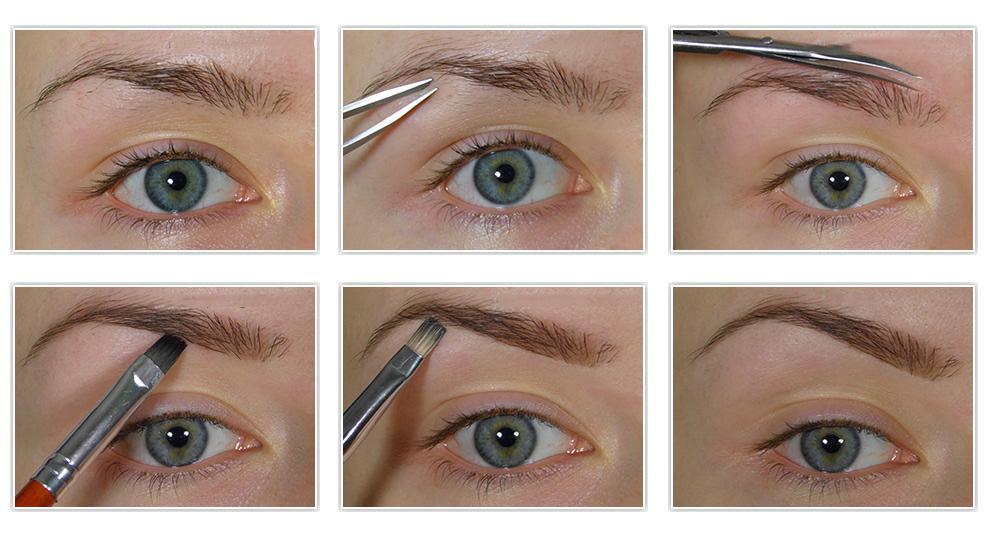 Как красить брови тенями правильно и красиво? Пошаговое фото и видео, как научиться