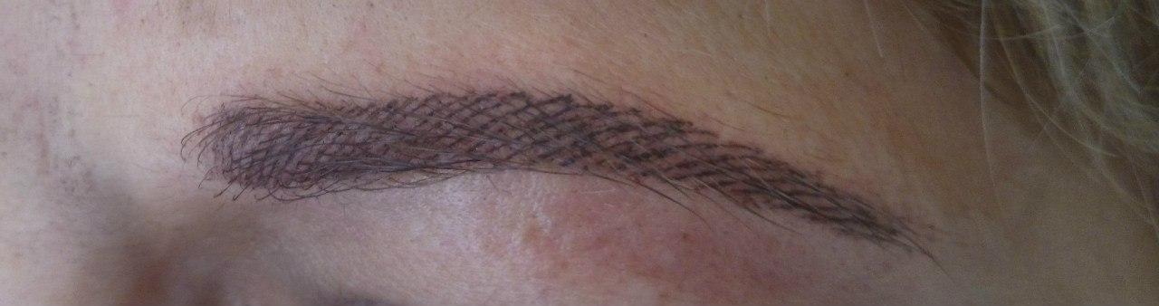 Акварельная техника татуажа бровей