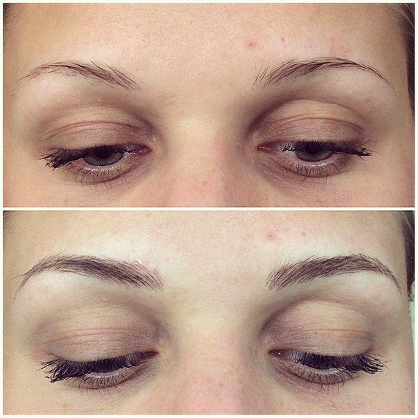 Брови до и после масок