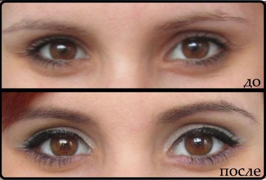 окраска ресниц до и после фото