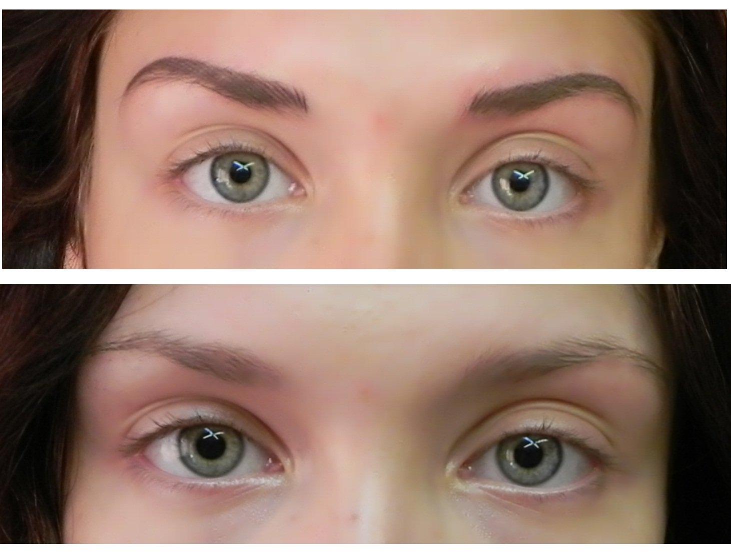 Результат окрашивания: до и после процедуры