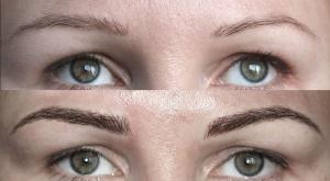 Перманентный макияж бровей волосковая техника