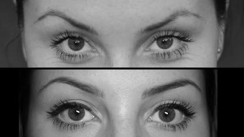 Окрашивание и макияж: до и после